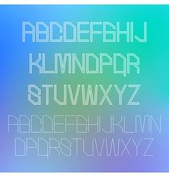Thin alphabet design eps10 vector image