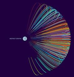 Three-dimensional sphere composed multicolored vector