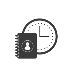 time clock with social media icon vector image