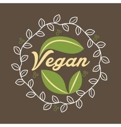 Vegan products design vector