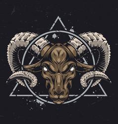 Vintage zodiac sign concept vector
