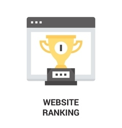 Website ranking icon vector