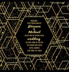 wedding luxury invitation card vector image