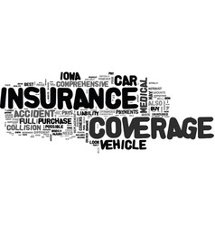 what to look for in a full coverage car insurance vector image