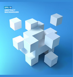 White cubes bunch background vector