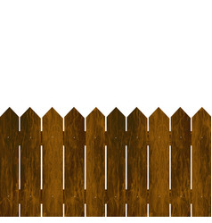 wooden fence on a white background vector image
