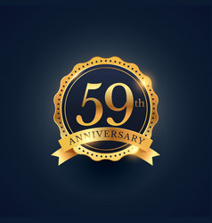 59th anniversary celebration badge label in vector image