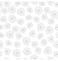 seamless black and white pattern with vector image vector image