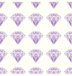 seamless pattern of geometric purple pink diamonds vector image