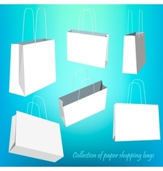 Creative concept set of empty shopping bag vector image vector image