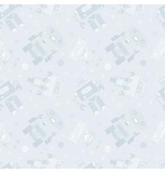 Robots seamless pattern vector image