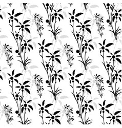 seamless pattern of black palm trees vector image