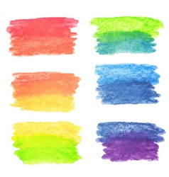 set of rainbow watercolor banners vector image vector image