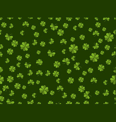 st patricks day seamless pattern with clover on vector image vector image