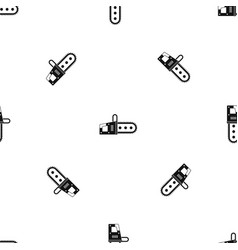 chainsaw pattern seamless black vector image