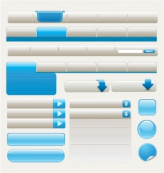 website design elements | blue vector image vector image