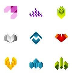 logo design elements set 46 vector image vector image