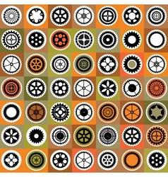 Mosaic gear vector image