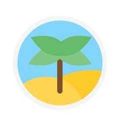 Palm icon logo isolated vector