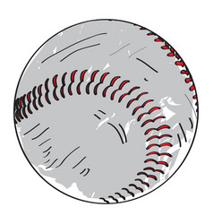retro baseball ball vector image