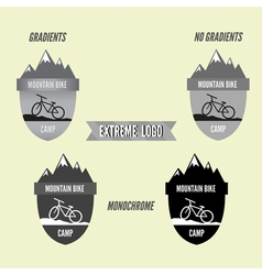 Set of mountain bike camping logo badge and banner vector image vector image