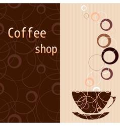 Template for a tea coffee chocolate menu vector image