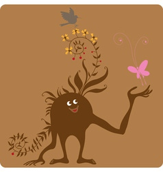 Tuned into nature vector image