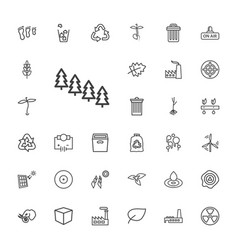 33 environment icons vector