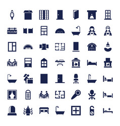 49 room icons vector