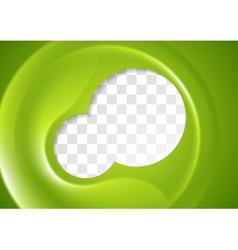 Abstract green flyer design vector