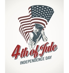 American independence day lettering design vector