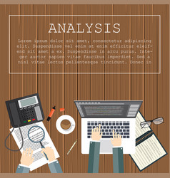 analysis flat design concepts for business and vector image