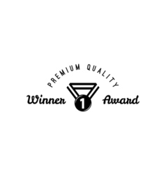 Award badge icon suitable for info graphics vector image