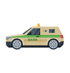 Bank car vehicle banking currency and valuables vector