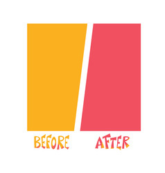 Before and after vector