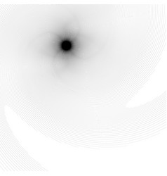 Black and white spiral element with thin radial vector