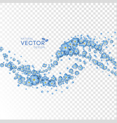 blue flying flowers vector image