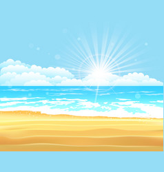 blue sea and sky background vector image