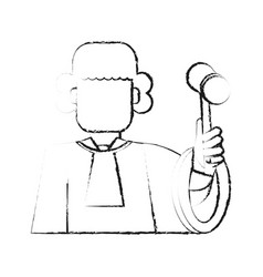 blurred silhouette faceless man judge with a vector image