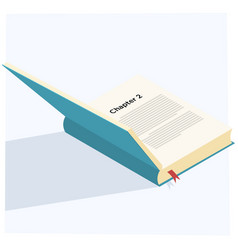 Book opened vector