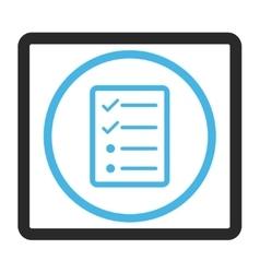 Checklist page framed icon vector