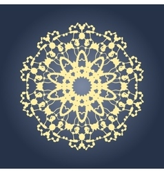 Circular mandala pattern fractal graphic carpet vector image