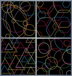 Colorful abstract technology background vector image