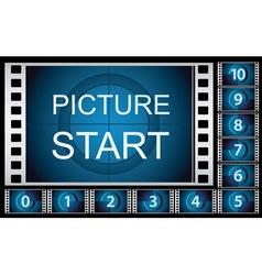 countdown film frames vector image