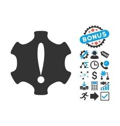 Danger Flat Icon with Bonus vector image