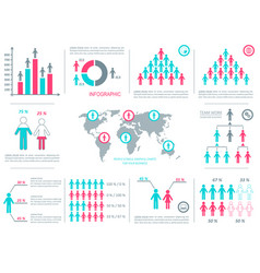 demographic people icons vector image
