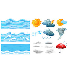 different symbols of weather vector image