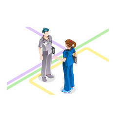 doctor clinical concept visit stethoscope vector image