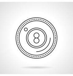 Eight ball flat line icon vector