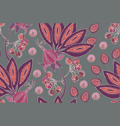 Fabulous flowers fruits and berries vector